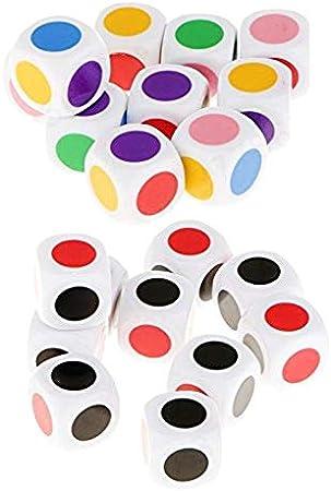 ALONGB Dados con 6 Colores, para Juegos de Mesa para Jugar Juegos de Mesa para niños Juguetes educativos Juego de 10 Piezas: Amazon.es: Hogar