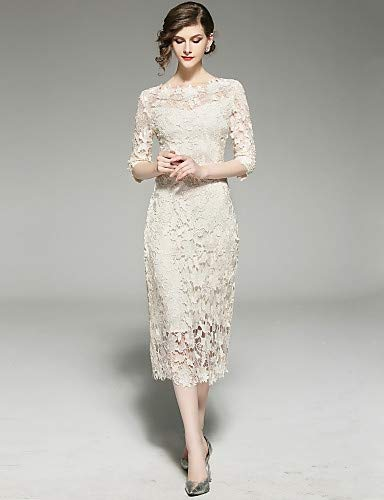 315f825ac YFLTZ Vestido de Novia Elegante de la Calle Sophisticated Street - Color  sólido