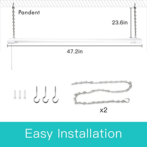 6 Pack Linkable LED Shop Lights for Garage, Amico 4FT 4000LM 5000K Daylight Double Integrated LED Garage Light by Amico (Image #5)