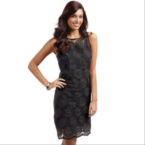 Mud Pie Womens Marigold Shift Dress (Medium Black)
