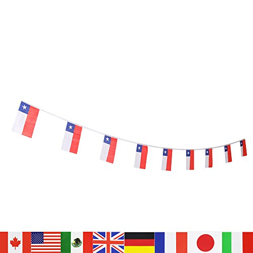 Chile Flag Chilean Flag Lovevc 100 Feet National Country World String Flags Banners International Party Decorations Supplies For World Cup Olympics