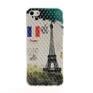 ZCL-Modelo retro Torre Eiffel Efecto Diamante superficie de plástico duro caso para iPhone 5/5S