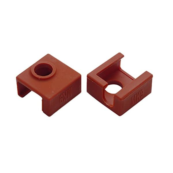 2 pack ilamourcar 3d printer heater block silicone cover mk7/mk8/mk9 hotend for creality cr-10,10s,s4,s5 anet a8.silicone socks cover heating insulation case 280℃ high-temperature resistant