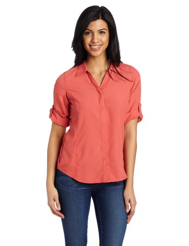 Royal Robbins Women's Light Expedition 3/4 Sleeve Shirt, Rosehip, ()