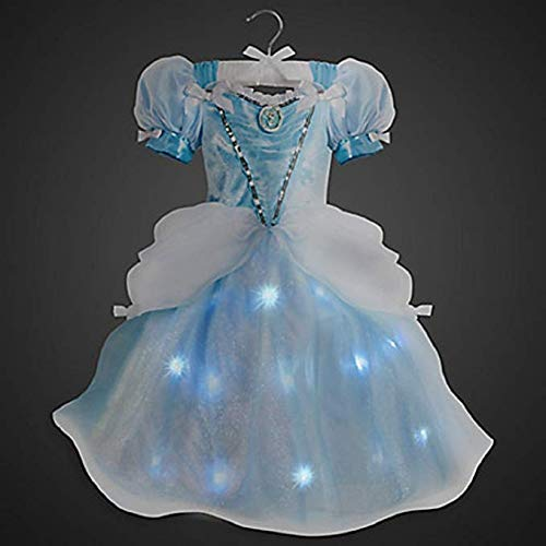 Cinderella Light Up Lights Costume Disney Store Size 5/6 Small ()