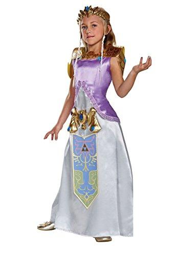 Legend Of Zelda Princess Zelda Costume (Zelda Deluxe Legend of Zelda Nintendo Costume, Medium/7-8)