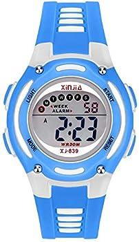 Reloj Digital para Niños Niña,Chicos Chicas 50M(5ATM) Impermeabl Deportes al Aire Libre LED Multifuncionales Relojes de Pulsera con Alarma para Niños, Niñas