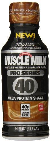 CytoSport músculo leche Pro serie eliminatoria poder batido de proteína, Chocolate, 14 fl.oz (cuenta 12)