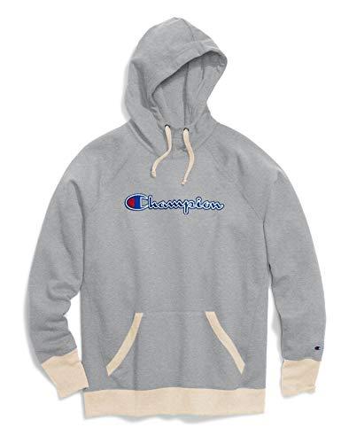Champion Women's Powerblend¿ Fleece Pullover Hoodie - Applique Y07461 Oxford Grey Heather/Oatmeal Heather - Applique Pullover
