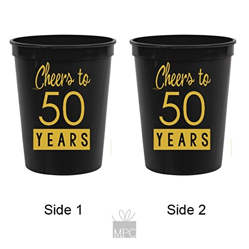 50th-Birthday-Black-Stadium-Plastic-Cups-Cheers-to-50-Years