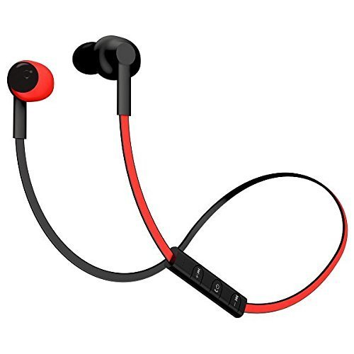 POM Gear P2G-SP2-RED Basik Secure Fit Bluetooth Earphones