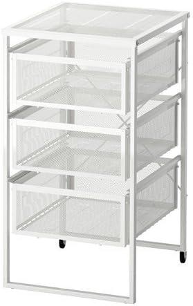 Cassettiere Ikea Con Ruote.Ikea Lennart Cassettiera Con Rotelle Colore Bianco Amazon It