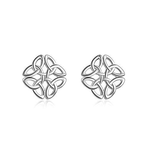 (Celtic Knot Sterling Silver Stud Earrings Irish Jewelry for Women Girls Men)