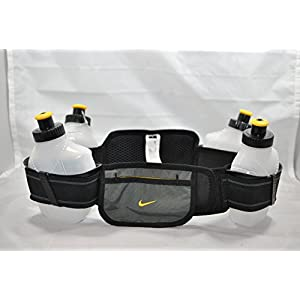 Nike Running Hydration Belt (Black/ Anthracite/ Varsity Maize) - Size 1 (waist size 25-28in)
