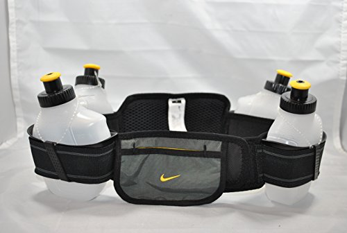 Price comparison product image Nike Running Hydration Belt (Black / Anthracite / Varsity Maize) - Size 1 (waist size 25-28in)