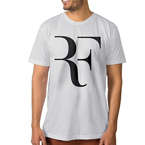 Roland Garros Clay (Fashion Men's Roger Federer Tshirt White Size XL)
