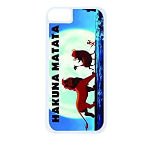 Hakuna Matata - Hard White Plastic Snap - On Case-Apple Iphone 5 - 5s - Great Quality!