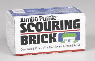 US Pumice, Set of 3, Jumbo Pumie Scouring Brick, Hand Safe, 5.75'' x 2.75'' x 2.75'', Pack of 3