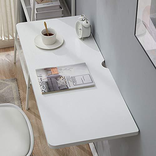 Naturligt massivt trä väggmonterat fällbord, fällbart köks- och matbord, 60 cm x 30 cm, datorbord, dubbelsidig sidobord