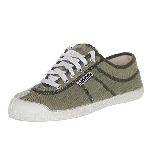 Kawasaki 39 Velluto IT Green Sneakers Scarpe Sneakers Verde V11 Bianco White RvBrRq
