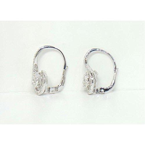 Boucles d'oreilles davite 4947dd or blanc diamant