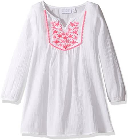 The Children's Place Girls' Her Li'l Embroidered Swim Cover-up