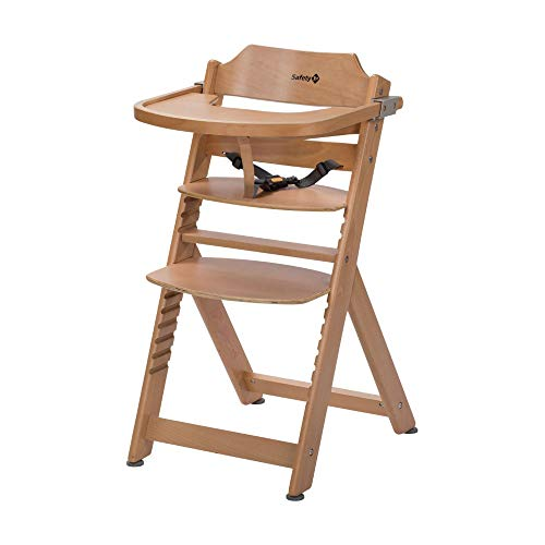 Safety 1st Timba Wooden Highchair, Adjustable Baby Highchair with...