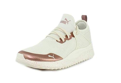 088176cdb627 PUMA Womens Pacer Nex tCage Metallic Speckle White Sneaker - 6
