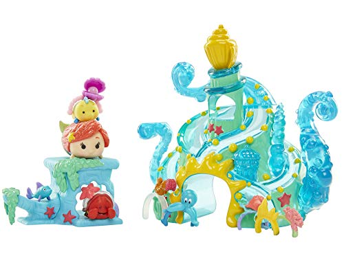 Tsum Tsum Disney The Little Mermaid Tsum Tails Set Miniature Toy Figures (The Little Mermaid Tsum Tsum)