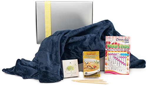 Wishes Cards Get Well (Get Well Gifts Box - Includes Luxury Blanket Organic Tea Soup and Book |Get Well Gift Baskets for Women Men Teens Friends | Get Well Care Package Presented in Beautiful Gift Box With Ribbon)