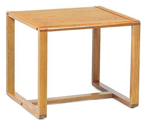 End Table w Sled Base - Contour (Mahogany)
