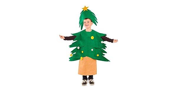 DISBACANAL Disfraz Árbol de Navidad Infantil - Único, 8 años ...