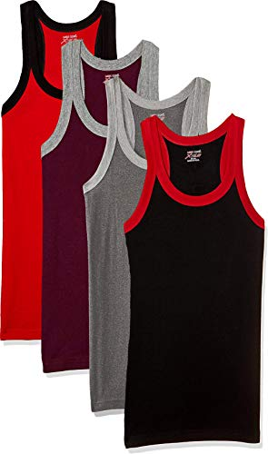 LUX Cozi Xylo Men Assorted Vest  Pack of 4