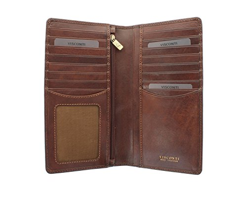 Visconti Protection Tuscany TSC45 Brown Leather Tan CARRARA RFID Jacket Collection Wallet rrw0dqZ