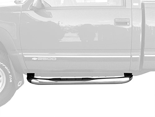 MaxMate Custom Fit Blazer 2Dr/Chevy/Gmc C/K Regular Cab/Tahoe/Yukon 2Dr Stainless 3' Side Step Rails Nerf Bars Running Boards(2pcs with Mounting Bracket Kit) WB2C33807