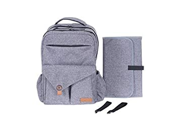 3d5ec6d9a858 Large Baby Diaper Bag Backpack: Unisex Travel Diaper Bags for Mom or Dad,  Grey