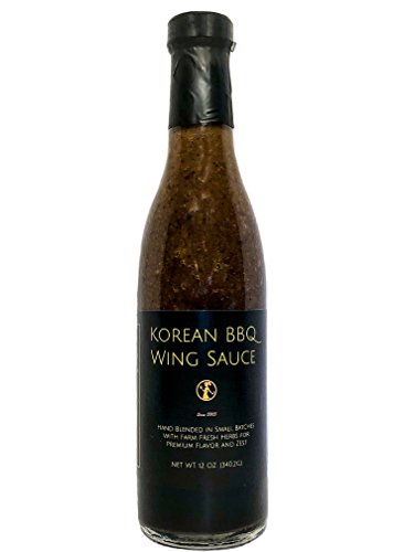 Korean BBQ Wing Sauce - Blended in Small Batches with Farm Fresh Herbs for Premium Flavor and Zest