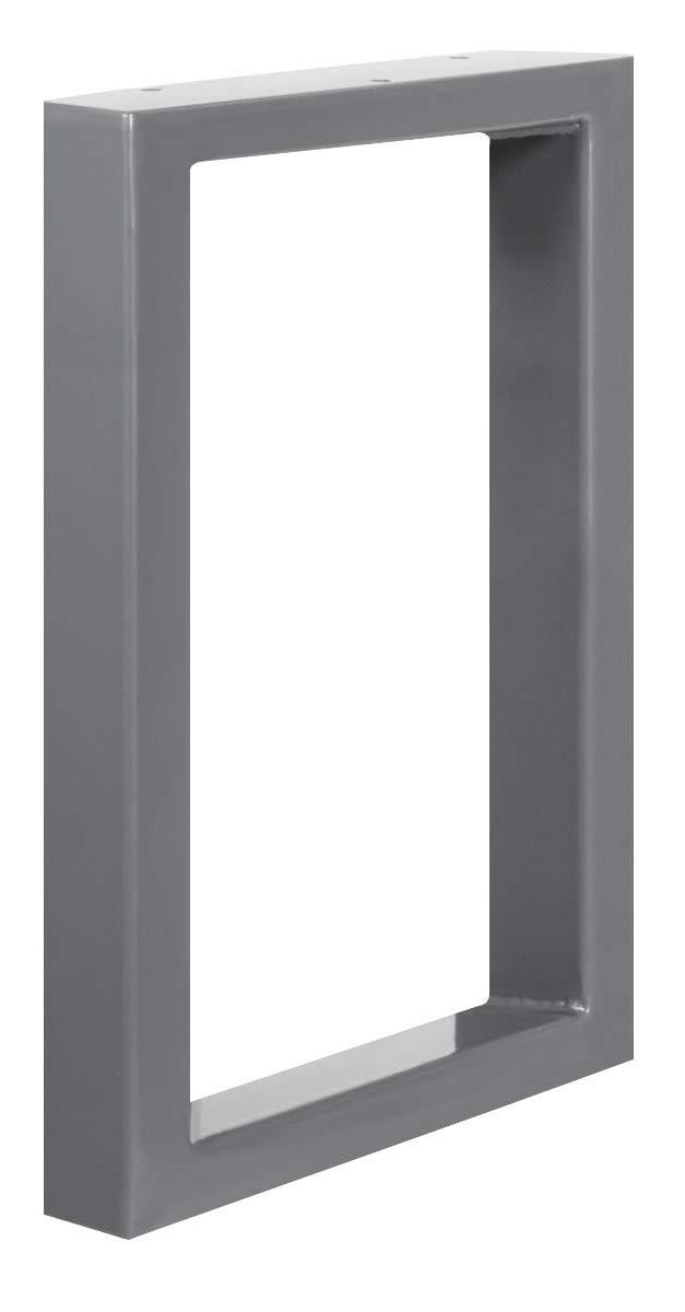 1 St/ück HOLZBRINK Tischkufen aus Vierkantprofilen 60x30 mm Tischgestell 50x72 cm HLT-01-D-II-9005 Tiefschwarz