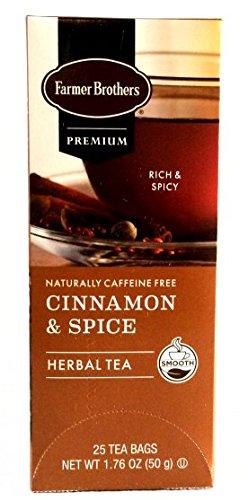 - Farmer Brothers Cinnamon & Spice Herbal Tea Tea- 25 bags