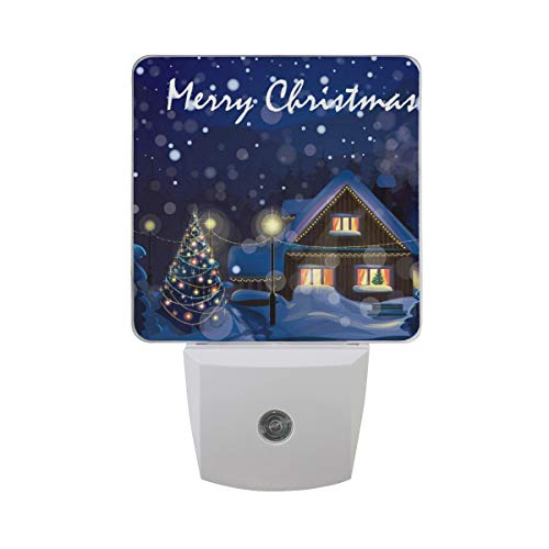 OuLian Night Light Merry Christmas Night Led Light Lamp for Hallway, Kitchen, Bathroom, Bedroom, Stairs, DaylightWhite, Bedroom, Compact