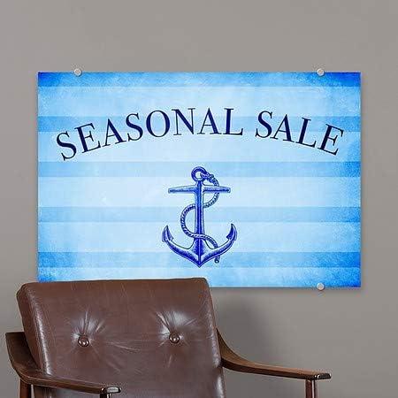 18x12 CGSignLab 5-Pack Seasonal Sale Nautical Stripes Premium Brushed Aluminum Sign