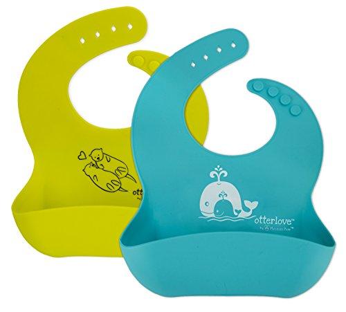 Otterlove Waterproof Silicone Baby Bibs