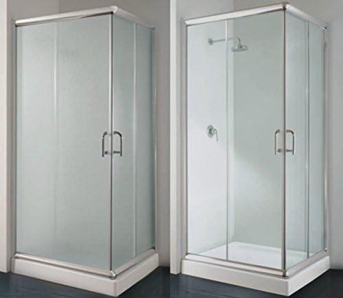 Mampara de ducha en ángulo de 90 x 90 con cristal transparente mate y disp. de diferentes medidas: Amazon.es: Bricolaje y herramientas