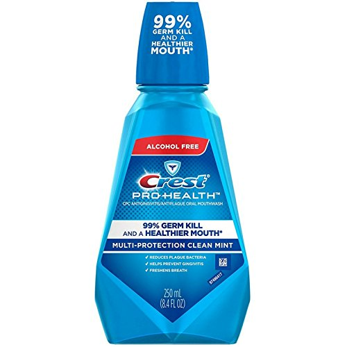 Mint Rinse Clean Refreshing - Crest Pro-Health Mouthwash Oral Rinse, Refreshing Clean Mint, 250 Milliliter (Pack of 3)