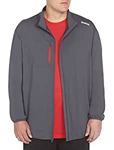 Reebok Big & Tall Play Dry One Series Jacket (1XTALL, Graphite)