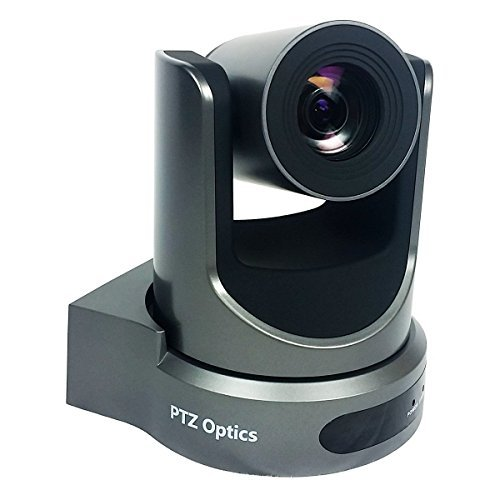 PTZOptics 2MP Full HD Indoor PTZ Camera, 20x Optical Zoom, 1920x1080 at 60fps, USB 3.0, HDMI, IP Streaming, CVBS, 60.7 degree FOV, Gray by PTZOptics