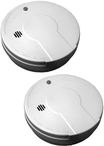 Kidde Battery-Operated Basic Smoke Detector Alarm with Low Battery Indicator Model 0915D-018, 2-Pack