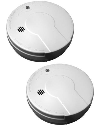Kidde 0915D-018 Battery-Operated Basic Smoke Alarm with Low Battery Indicator, Twin Pack