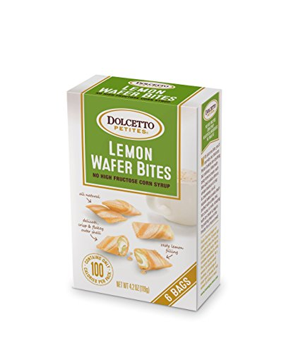Dolcetto Lemon Wafer Bites, 4.2 Ounce (Pack of 12) by Dolcetto