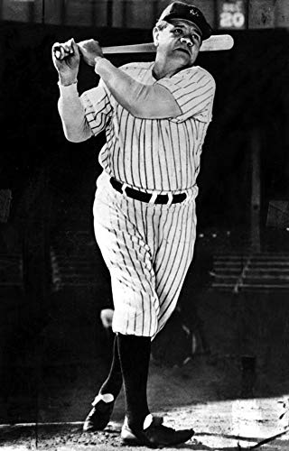 Babe Ruth playing baseball Photo Print (8 x 10) for sale  Delivered anywhere in USA
